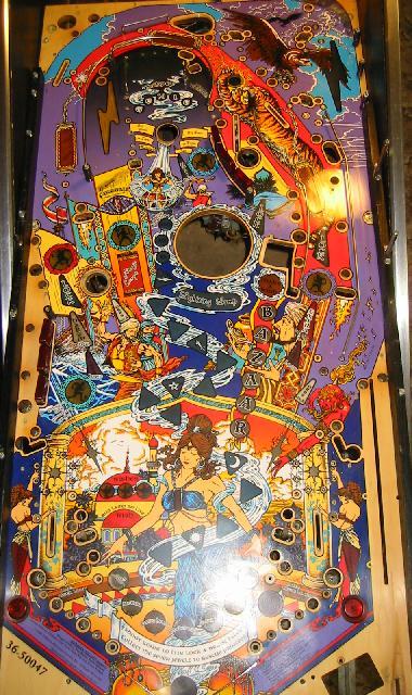 TOTAN Tales of the Arabian Nights Pinball Blue GENIE EYES Mod