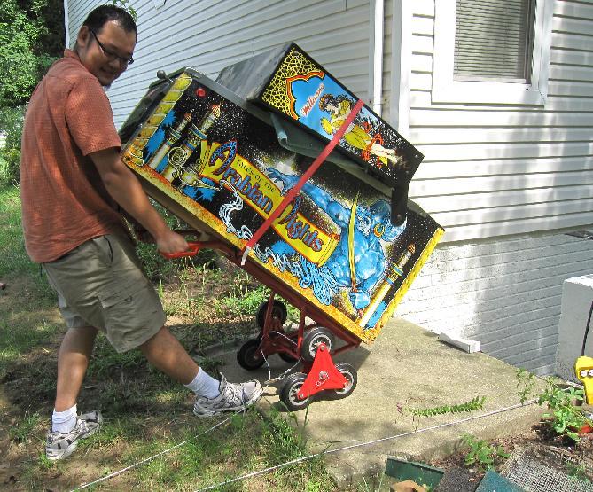 pinball machine moving dolly