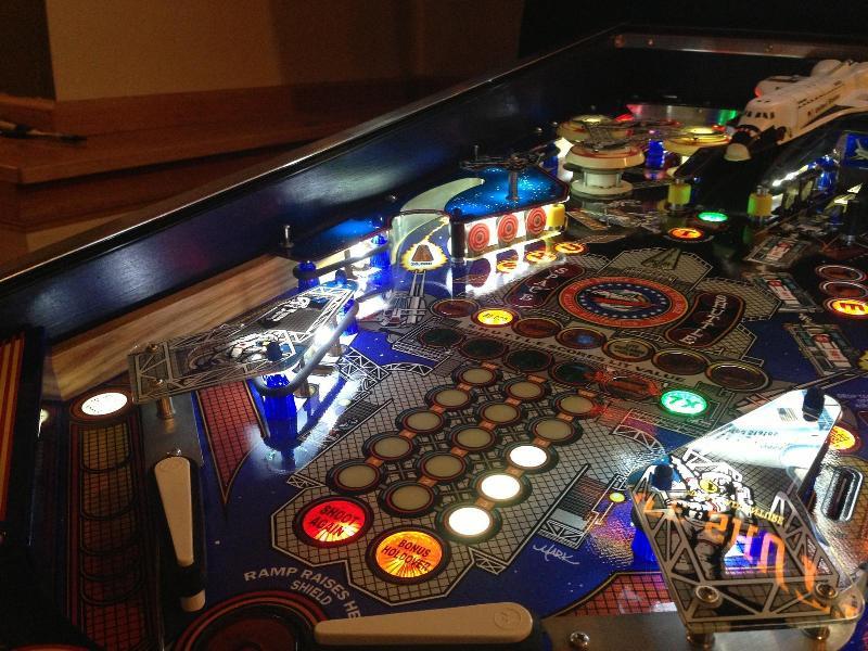 Space Shuttle Pinball Playfield Overlay
