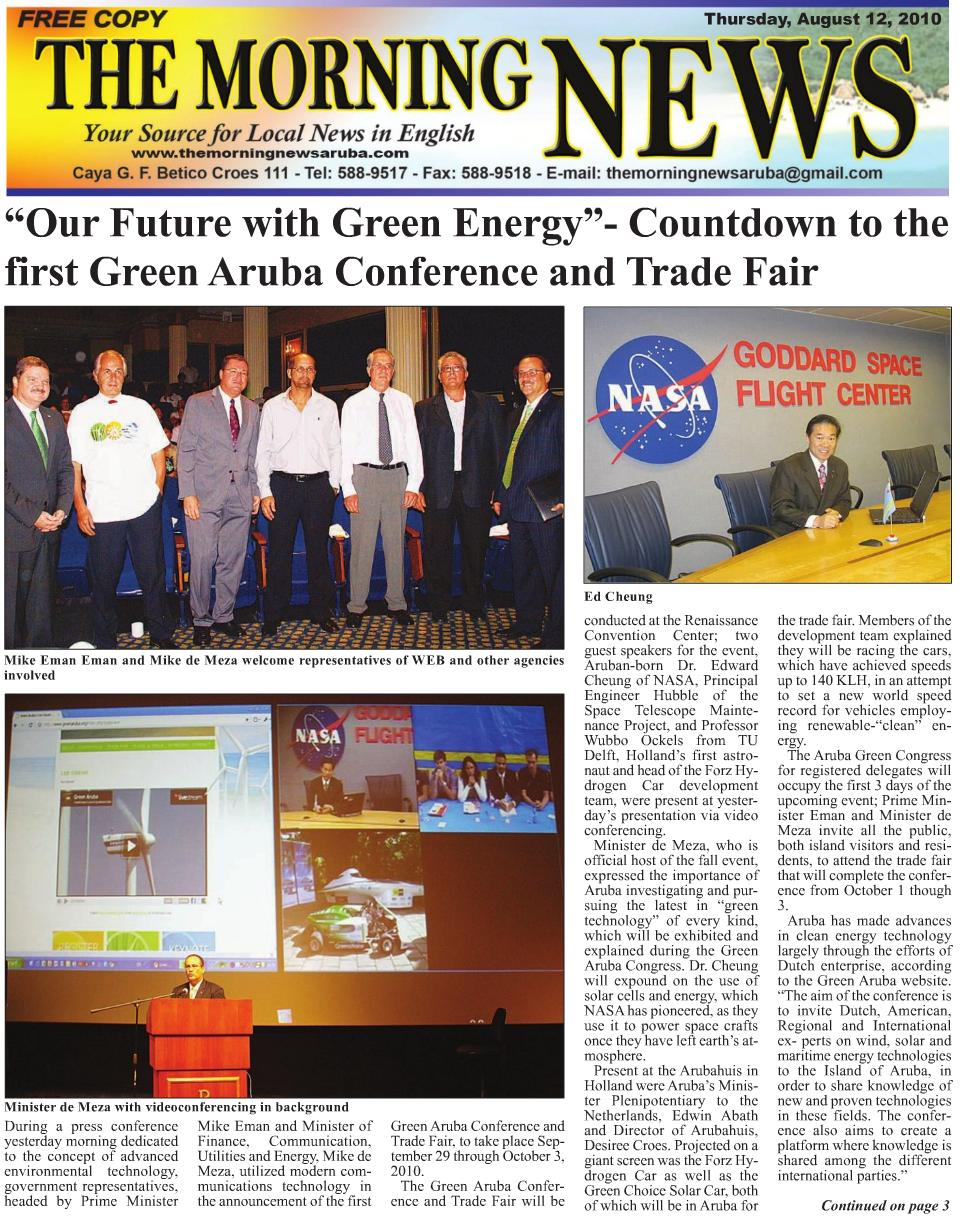 2010 Green Energy Conference in Aruba
