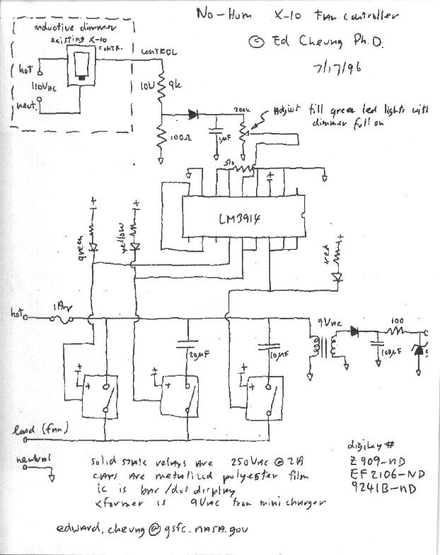 Ceiling Fan Speed Controller Schematic