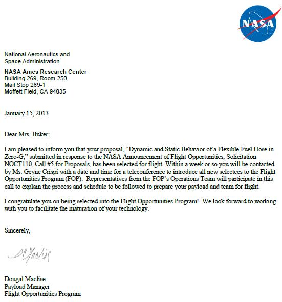 Satellite servicing office fuel hose investigation approval letter from oct thecheapjerseys Choice Image